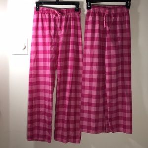 Pink Flannel Gingham pajama pants 10/12 or 14/16